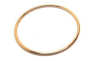 9ct Rose Gold 3mm Wide Hollow Golf Bangle 60mm Diameter * Free Express Post Oz