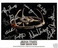 STAR TREK DS9 CAST OF 11 AUTOGRAPH SIGNED PP PHOTO POSTER