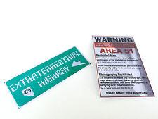 Area 51 Fridge Magnet Signs Pair / Alien / X-files / Extraterrestrial / ET