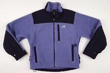 EMS Womens XS Fleece JACKET Purple BLACK Women POLARTEC Full ZIP Size SZ Pockets