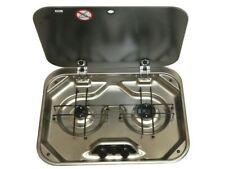 Smev 8000 2 Burner Caravan RV Gas Stove Cooktop Hob Glass Lid