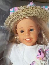 """1994 EXCLUSIVELY YOURS 17"""" Soft Body FRECKLED BLONDE GIRL Doll -Toys 'R Us Excl."""