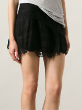"NWOT $780 Isabel Marant ""Molly"" Lace Tiered RUNWAY Mini Skirt SZ 36 Black"