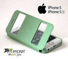 Housse / Coque / Etui à rabat - Apple Iphone 5 / Iphone 5S - VERT - Neuf