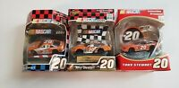 Tony Stewart #20 Home Depot NASCAR Christmas Tree Ornaments Lot of 3 PRE-OWNED