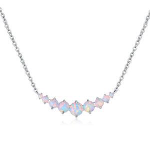Beautiful Sajen AVENTURA Silver Plated Opal Necklace