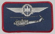 Ricamate patch namemsschild ELICOTTERO BELL uh-1d pilota in argento... a3625