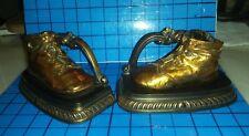Pair of Bronze Baby Shoe Bookends