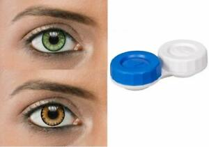 Soft Eye Green & Brown Color Lens with Case and Solution 2 Pair