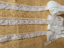 New listing 3 French Antique Lace Valencienne Trim 4+ yards cotton narrow lot