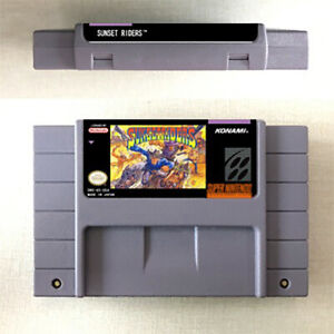 Sunset Riders For Game Card Console US Version For Nintendo English SNES 16 Bit