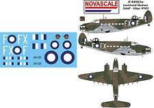 RAAF Lockheed Hudson Mini-Set Decals 1/48 Scale N48001a