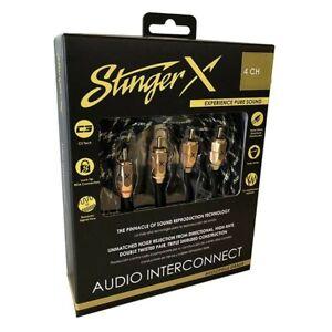 StingerX X3 Series Premium Interconnects Four Channel Audio RCA 17 Feet XI3417