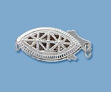 Sterling Silver Bead Fish Hook Clasp 18 x 8 MM (Pkg. Of 1 ) #6207S
