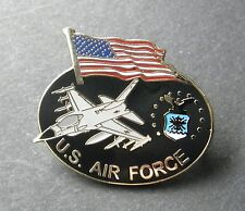 USAF US Air Force Services USA Flag Large Lapel Pin Badge 1.25 inches