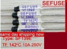 SF 139 E Thermal Fuse 142 °C 10 A 250 V LOT OF 15 PCS