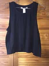 FOREVER 21 F21 Black Summer Vest Top *NEW* Size Medium