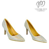 Simply Be Venus Women's Shoes Silver Embellished AB Diamante Courts Size 5 Uk