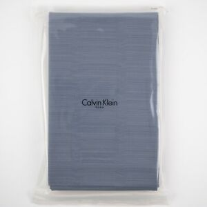 Queen Flat Sheet Rhythmic Stripe From Bamboo Flower Hyacinth by Calvin Klein