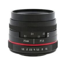 25mm f1.8 lentille fixe à grande ouverture pour panasonic olympus micro 4/3