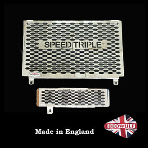 1050 Speed Triple (06-09) Beowulf Polished Radiator & Oil Cooler Guards T004ROC