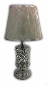 Thin metallic frame crystallic table lamp with incorporated LED [CDS01]