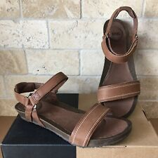 TEVA YSIDRO STITCH BROWN LEATHER WEDGE SANDALS SIZE US 8 WOMENS 1015120