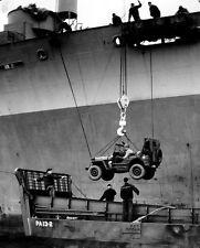 6x4 Photo ww959 Normandy Jeep Hq 2nd Bat 12thIr 4th Id USS Joseph T Dickman