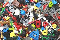 Lego 100 Random Mini figures WEAPONS/ACCESSORIES star wars castle hats hair
