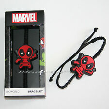 Marvel Avengers Dead Pool Deadpool Kawaii Cord Adjustable Charm Bracelet BOXED