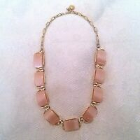 Vintage Gold Tone Mid Century Thermoset Lucite Choker Necklace