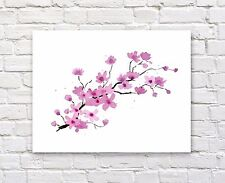 Cherry Blossoms Watercolor Painting Art Print by Artist DJ Rogers