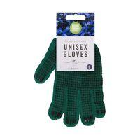 2 Pairs Winter Work & Safety Gardening Gloves Extra Grip PVC Dot Pattern 1 Size