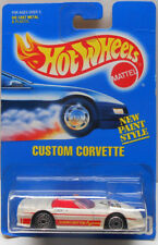 Hot Wheels 1991 Blue Card CUSTOM CORVETTE (White) #200 Read