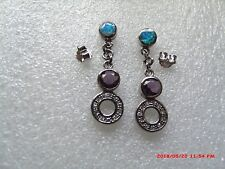 STERLING SILVER EARRINGS WITH OPAL AND AMETHYST AND DIAMONDS??
