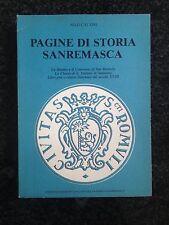 PAGINE DI STORIA SANREMASCA - Nilo Calvini - CASABIANCA 1978