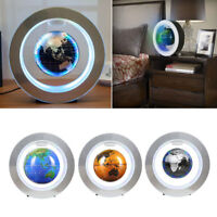 4'' LED World Map Decor Magnetic Levitation Floating Globe Earth Light La Sale