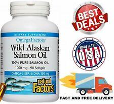 WILD ALASKAN SALMON OIL 1000 mg Omega 3 EPA DHA Heart Brain Health 90 Softgels