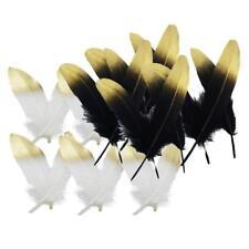 24 x Plume D'oie Naturel Teint Bricolage Décoration Fabrication De Vêtement