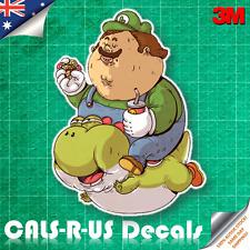 Famous FAT Series Mario Luigi Yoshi Sticker Car Wall Room Luggage 3M Film 100mm