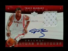 TRACY McGRADY 2004-05 UPPER DECK TRILOGY SIGNATURE SWATCHES JERSEY AUTO #6/25!