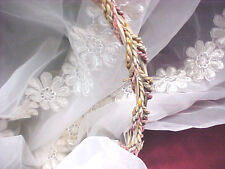 "Organza Fabric RETRO DAISY PATTERN white 45"" wide PERFECT dresses bassinet 1599"