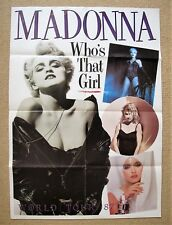 Madonna - Whos That Girl -  Original 1987 World Tour Promo Poster