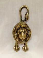 Vintage Brass Lion Door Knocker Metal Stretched Legs / Paws Long Tail