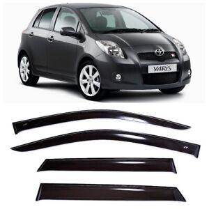 For Toyota Yaris/Vitz 5d 2005-2011 Side Window Visors Rain Guard Vent Deflectors