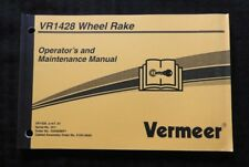 Genuine Vermeer Vr1428 1428 Wheel Rake Operators Amp Maintenance Manual