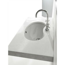 Lavandino Lavabo Sottopiano Design Sagomato in ceramica bianco 59,5x39 cm