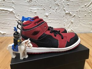 Nike Air Jordan 1 MID Banned Bred TD 640735-005 Toddler DS Size 10C