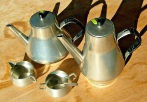 Vintage Pewter coffee tea set, Norway # 690, excellent condition