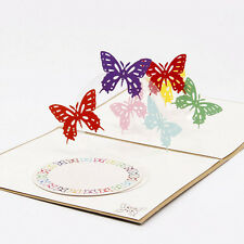 3D Pop Up Card Butterfly Anniversary Happy Birthday Valentine Christmas